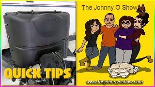 QT. #5 Camper Dual Propane Tank Cover Access Lid: Warning - It Blows Off! Easy DIY Fix